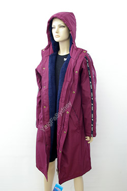 Maroon Long Swim Jacket